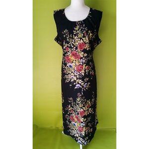 California Dreams Tie Back Floral Long Dress 2x